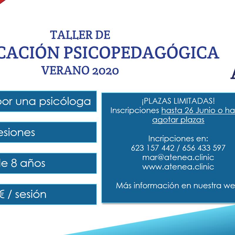 Taller reeducación psicopedagógica verano 2020